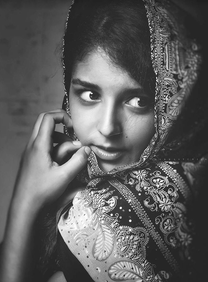 A Girl in Traditional South Asian Dress